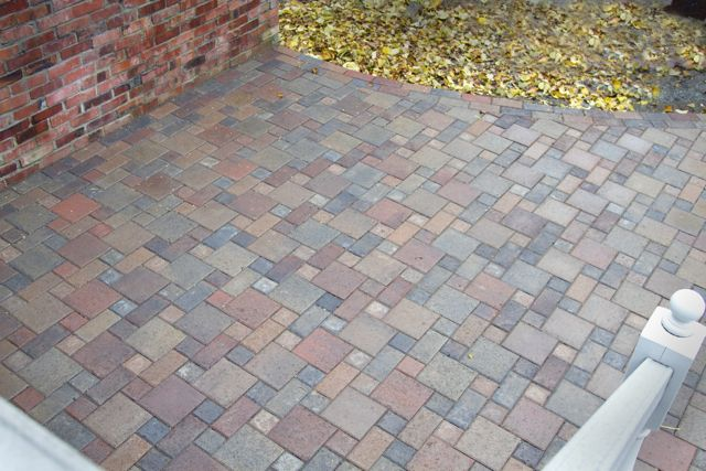 Paver patio with mixed colors, Ecoyards, Seattle